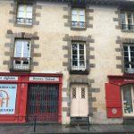 La façade d'origine rue d'Antrain à Rennes